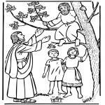 Kleurplaten Bijbel - Zacheus en Jezus