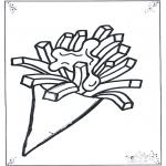 Allerlei Kleurplaten - Zak patat