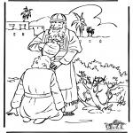 Kleurplaten Bijbel - Zalving David