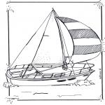 Allerlei Kleurplaten - Zeilboot