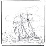 Allerlei Kleurplaten - Zeilschip 1