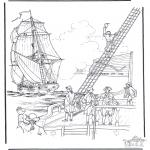 Allerlei Kleurplaten - Zeilschip 2