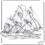 Allerlei Kleurplaten - Zeilschip 3