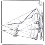Allerlei Kleurplaten - Zeilschip 4