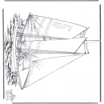 Allerlei Kleurplaten - Zeilschip 5
