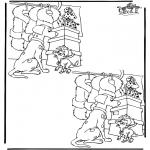 Knutselen - Zoek 10 verschillen 1