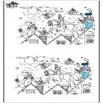 Knutselen Prikkaarten - Zoek 10 verschillen Sint 4