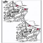 Knutselen Prikkaarten - Zoek 10 verschillen Sint 5