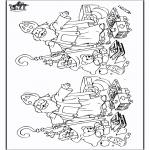 Knutselen Prikkaarten - Zoek 10 verschillen Sint 6