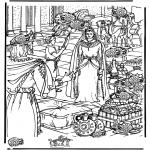 Kleurplaten Bijbel - Zoek 15 kruiken, Sheba