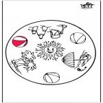 Mandala Kleurplaten - Zomer mandala