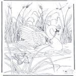 Kleurplaten Dieren - Zwaan